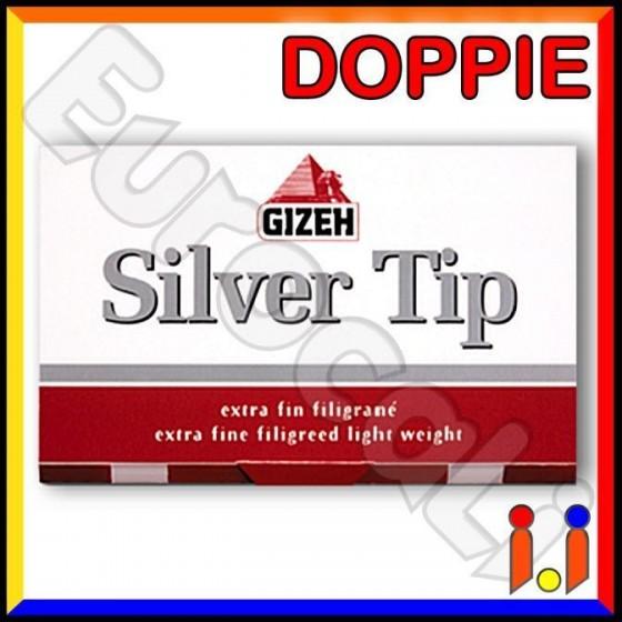 Cartine Gizeh Silver Tip Corte Doppie Extra Fine - Libretto