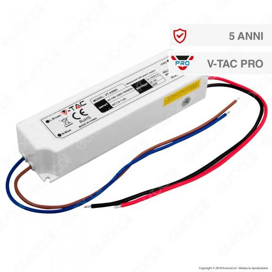 V-Tac PRO VT-22065 Alimentatore 60W Impermeabile IP67 a 1 Uscita con Cavi a Saldare - SKU 3252