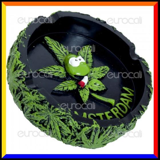 Amsterdam Posacenere da Tavolo in Poliresina - Weed Leaf