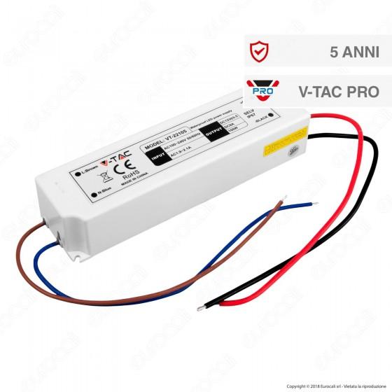 V-Tac PRO VT-22105 Alimentatore 100W Impermeabile IP67 a 1 Uscita con Cavi a Saldare - SKU 3251