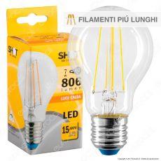 Bot Lighting Shot Lampadina LED E27 7W Bulb A60 Filamento Extra-Lungo