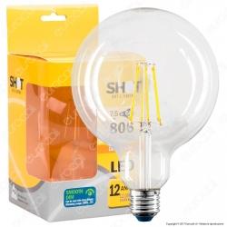 Bot Lighting Lampadina LED E27 7,5W Globo G125 Filamento Dimmerabile - mod. WLD4008X2D