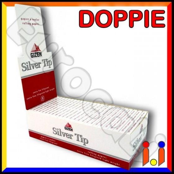 Cartine Gizeh Silver Tip Corte Doppie Extra Fine - Scatola Da 25 Libretti