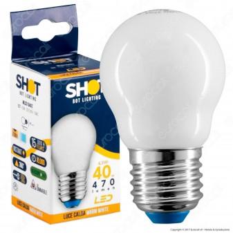 Bot Lighting Lampadina LED E27 4,5W MiniGlobo G45 Milky Filamento