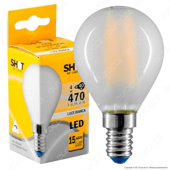 Bot Lighting Lampadina LED E14 4W MiniGlobo P45 Frost Filamento