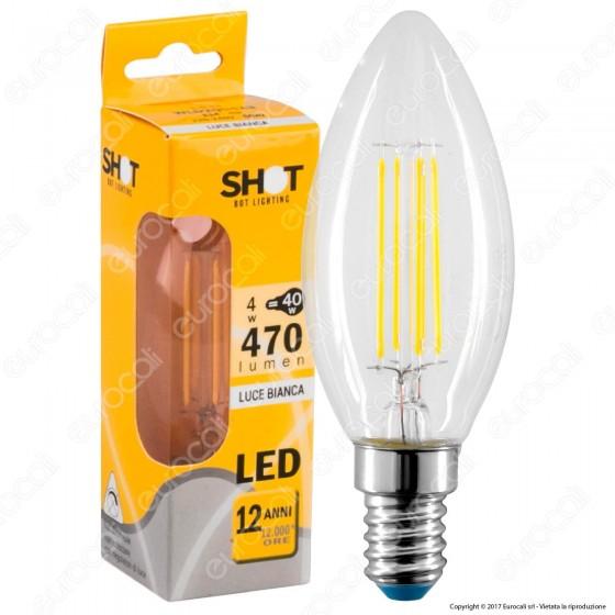 Bot Lighting Lampadina LED E14 4W Candela Filamento