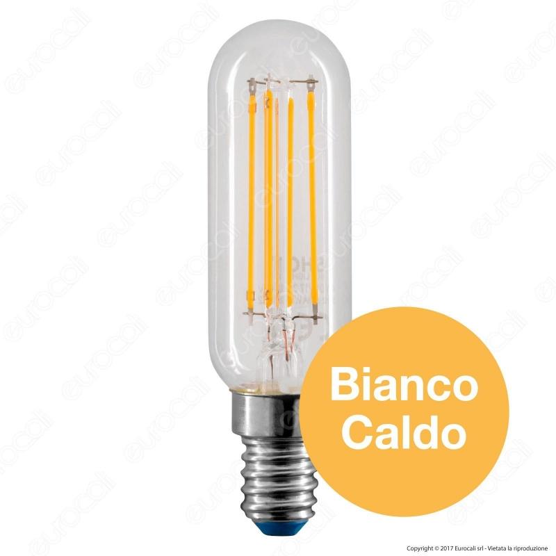 Lampadina led e14 4w tubolare filamento bot lighting for Lampadine a led e14