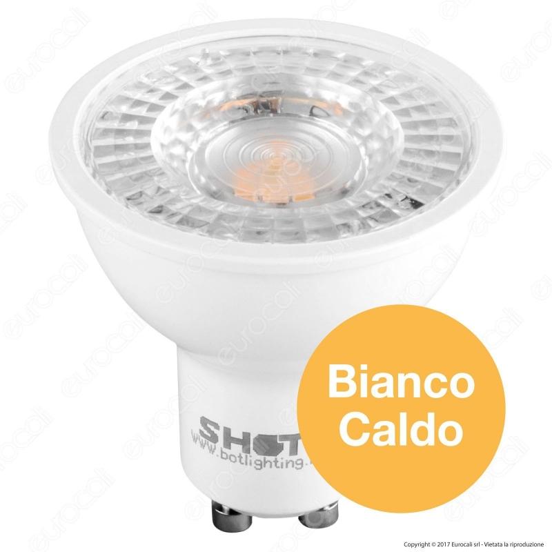 Lampadina led gu10 6 3w faretto spotlight 120 bot for Shot bot lighting