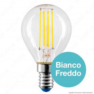 Bot Lighting Lampadina LED E14 4W MiniGlobo P45 Filamento