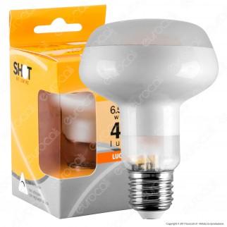 Bot Lighting Lampadina LED E27 6,5W Bulb Reflector R80 Frost Filamento