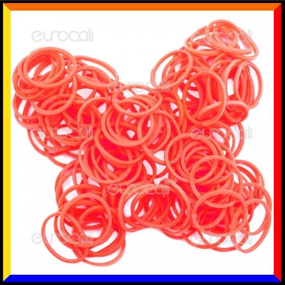 Loom Bands Elastici Colorati Arancio Fluo - Bustina da 600 pz LB08