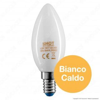 Bot Lighting Lampadina LED E14 4,5W Candela Milky Filamento