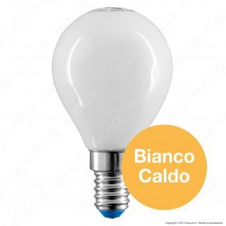 Bot Lighting Lampadina LED E14 4,5W MiniGlobo P45 Milky Filamento