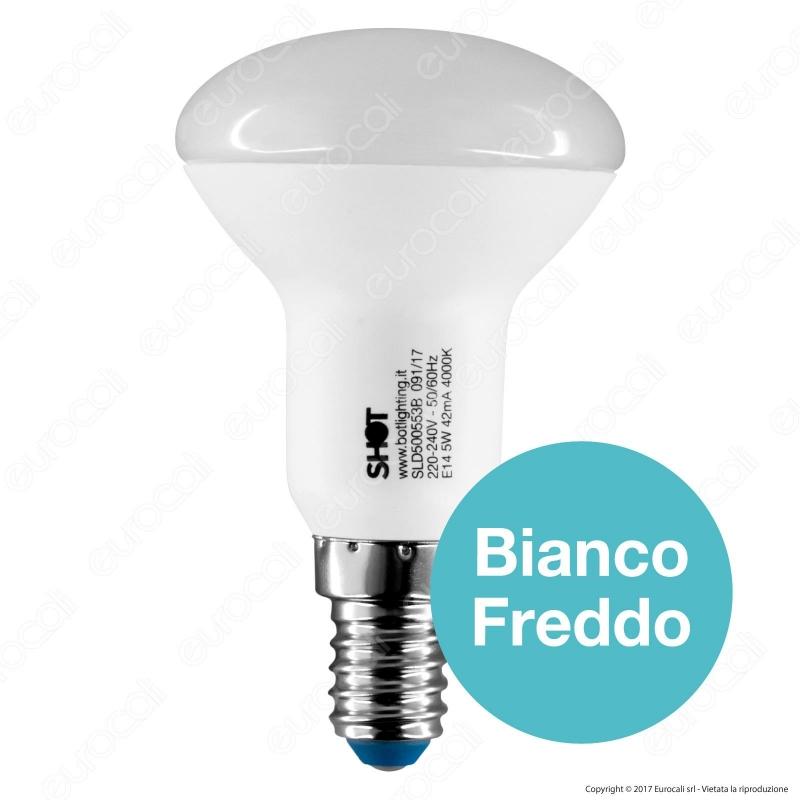 Lampadina led e14 5w bulb reflector r50 bot lighting shot for Shot bot lighting