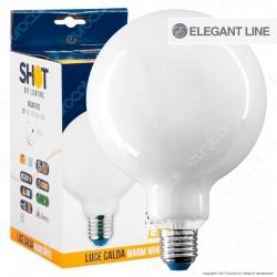 Bot Lighting Lampadina LED E27 8W Globo G125 Milky Filamento - mod. MLD4010X2