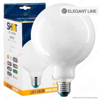 Bot Lighting Lampadina LED E27 8W Globo G125 Milky Filamento