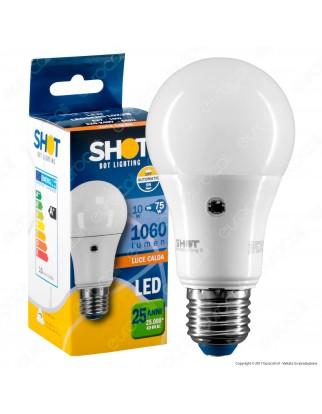 Bot Lighting Lampadina LED E27 10W Bulb A60 con Sensore Crepuscolare