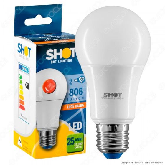 Bot Lighting Lampadina LED E27 9W Bulb A60 con Sensore Crepuscolare e di Movimento