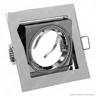 Kanlux AREN DTL-C Portafaretto Orientabile Quadrato da Incasso per Lampadine GU10 e GU5.3