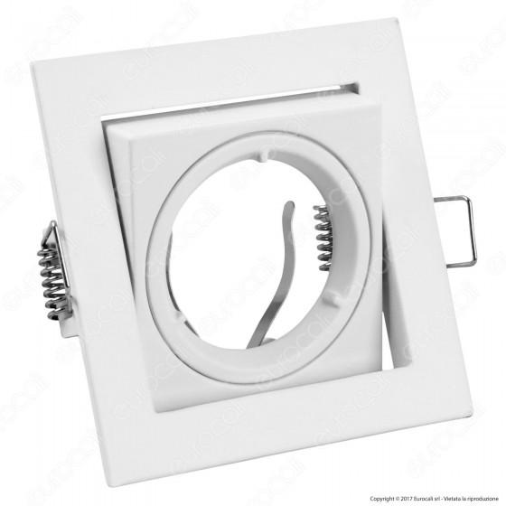 Kanlux AREN DTL-B Portafaretto Orientabile Quadrato da Incasso per Lampadine GU10 e GU5.3