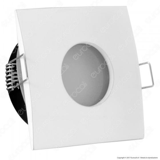 Kanlux Qules AC L-W Portafaretto Quadrato da Incasso IP44 per Lampadine GU10 e GU5.3