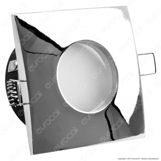 Kanlux Qules AC L-C Portafaretto Quadrato da Incasso IP44 per Lampadine GU10 e GU5.3