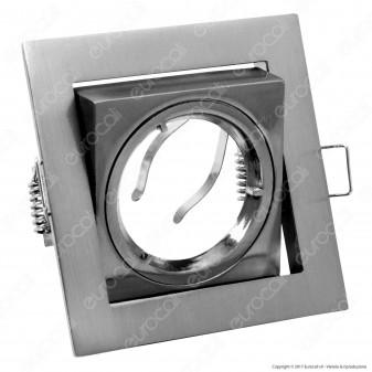 Kanlux AREN DTL-C/M Portafaretto Orientabile Quadrato da Incasso per Lampadine GU10 e GU5.3