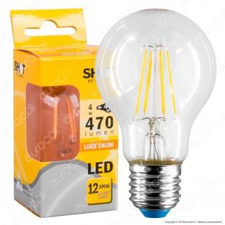 Bot Lighting Shot Lampadina LED E27 4W Bulb A60 Filamento Extra-Lungo