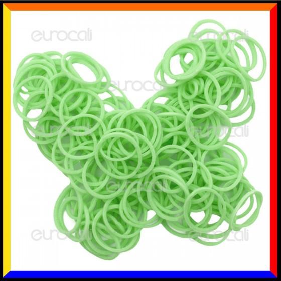 Loom Bands Elastici Colorati Verde - Bustina da 600 pz LB03