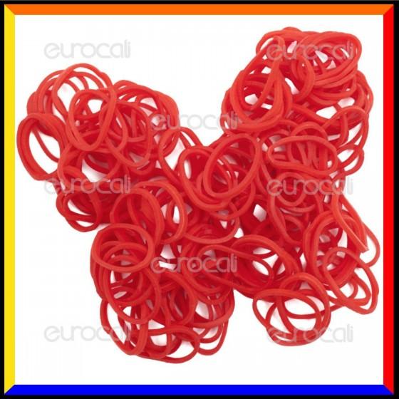 Loom Bands Elastici Colorati Rosso - Bustina da 600 o 1000 pz