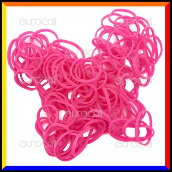 Loom Bands Elastici Colorati Rosa Fluo - Bustina da 600 pz LB04