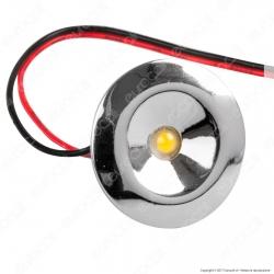 FAI Punto Luce LED da Incasso 1W Cromato - mod. 0405