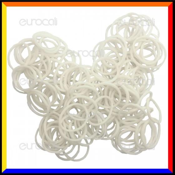 Loom Bands Elastici Colorati Bianco - Bustina da 600 o 1000 pz