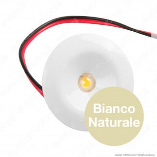 FAI Punto Luce LED da Incasso 1W 12V Bianco