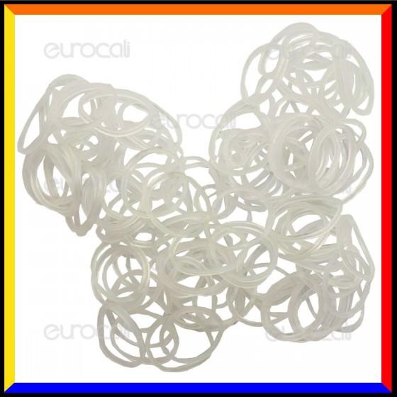 Loom Bands Elastici Colour Changing Trasparente - Bustina da 600 pz LB20