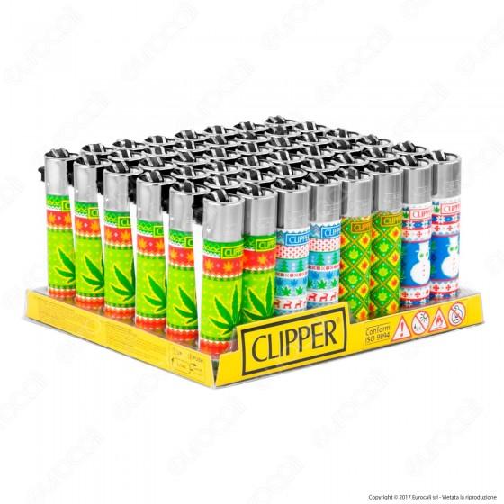 Clipper Large Fantasia Leaves & Snow - Box da 48 Accendini