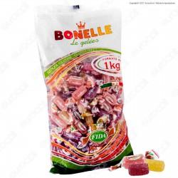Caramelle Bonelle Le Gelées ai Gusti Frutta Senza Glutine - Busta 1000g