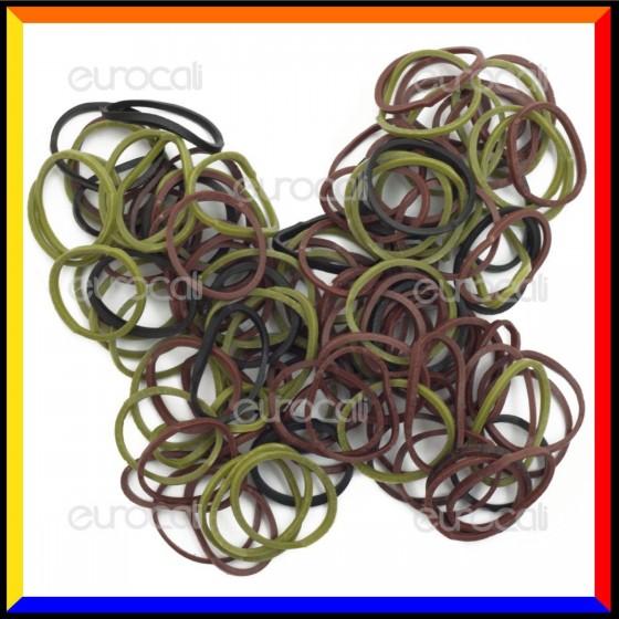 Loom Bands Elastici Colorati Camo Militare - Bustina da 600 pz LB21
