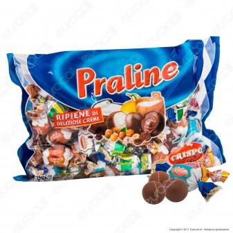 Praline Crispo al Cioccolato Assortite Ripiene di Creme - Busta 1000g