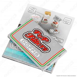 Kit Pop Filters 300 Cartine Corte Doppie Italia Silver Line + 1 Posacenere + 1 Accendino