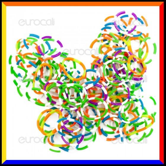 Loom Bands Elastici Colorati 8 Toni - Bustina da 600 pz LB16