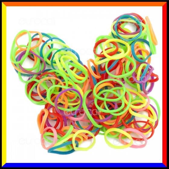 Loom Bands Elastici Colorati Neon Fluo - Bustina da 600 o 1000 pz