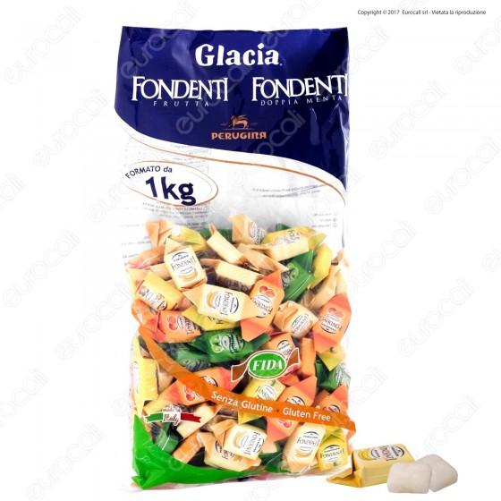Caramelle Perugina Glacia Fondenti Assortite al Gusto Frutta Senza Glutine - Busta 1000g