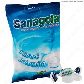 Sanagola Caramella Dura Balsamica Mentolo ed Eucaliptolo Senza Glutine - Busta 100g