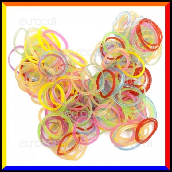 Loom Bands Elastici Colorati Glitterati - Bustina da 600 pz LB12