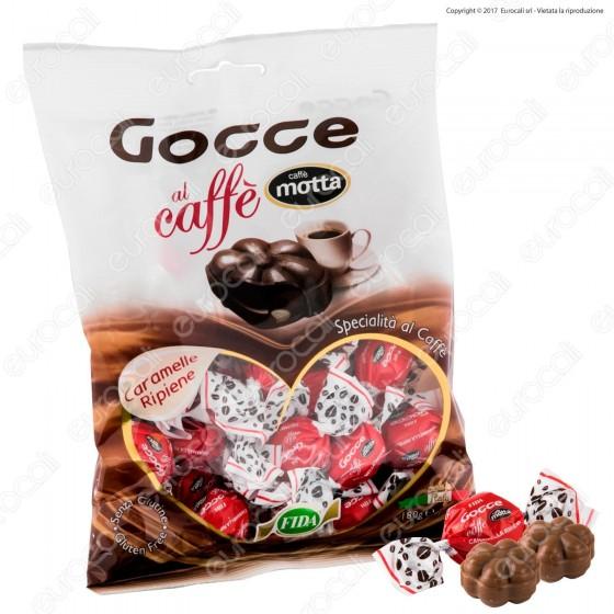 Caramelle Dure Gocce con Ripieno al Caffè Motta Senza Glutine - Busta 180g