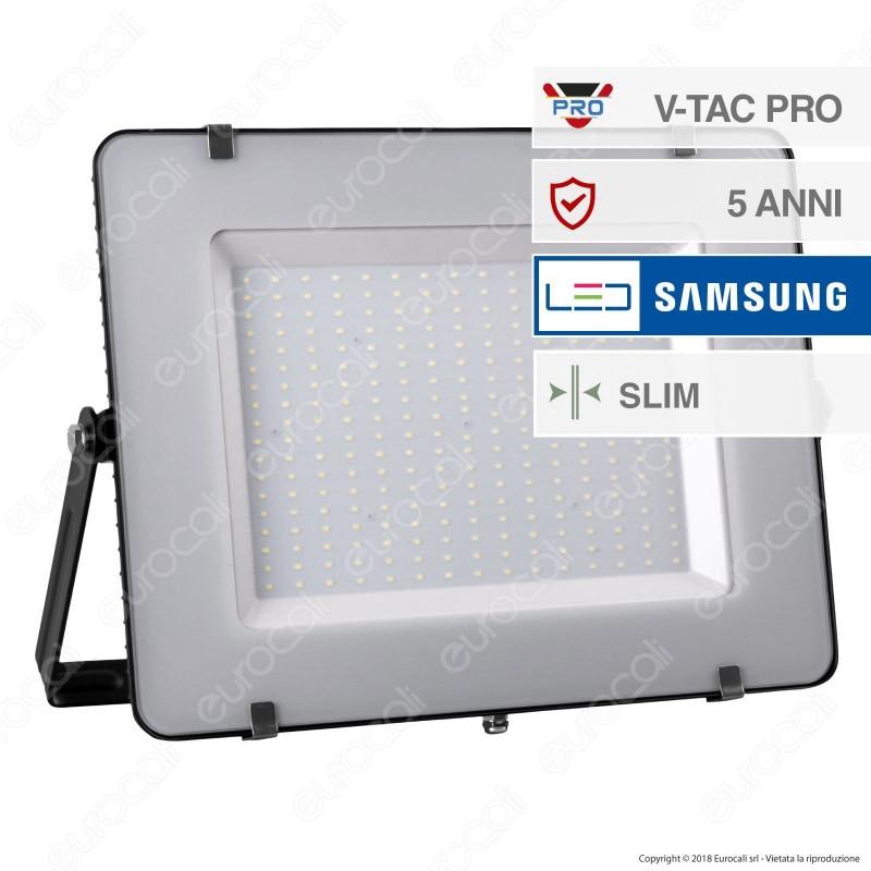 V-Tac PRO VT-300 Faro LED SMD 300W Ultrasottile Chip Samsung da Esterno Colore Nero - SKU 423