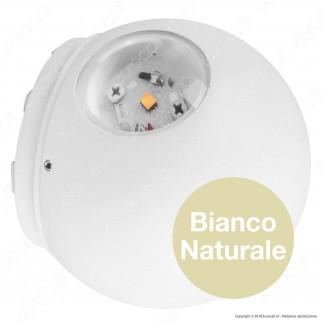 V-Tac VT-836 Lampada da Muro Wall Light LED 6W Forma Sferica Colore Bianco - SKU 8301 / 8302