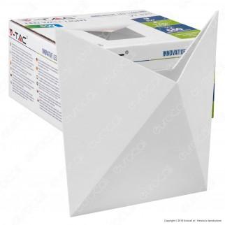 V-Tac VT-825 Lampada da Muro Wall Light LED 5W Colore Bianco - SKU 8280 / 8281