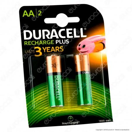 Duracell Value Precharged 1300mAh Pile Ricaricabili Stilo AA - Blister 2 Batterie